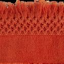 Serviette 45x90cm orange corail-BAHA