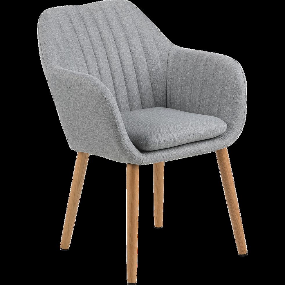 chaise capitonn e en tissu gris clair avec accoudoirs shell chaises alinea. Black Bedroom Furniture Sets. Home Design Ideas