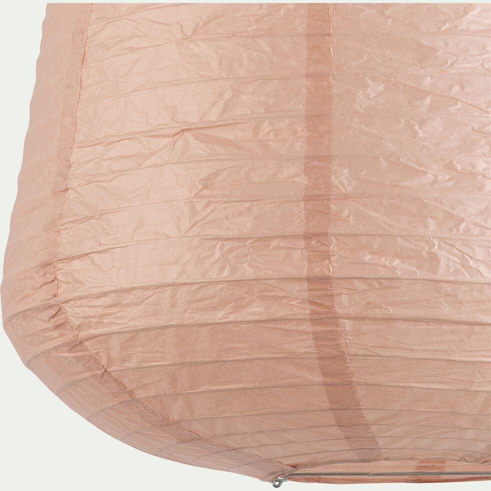 Suspension ovale en papier - rose rosa D40xH50cm-ALOU