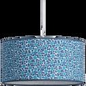 Abat-jour en tissu à motifs bleus D35cm-ZELIG