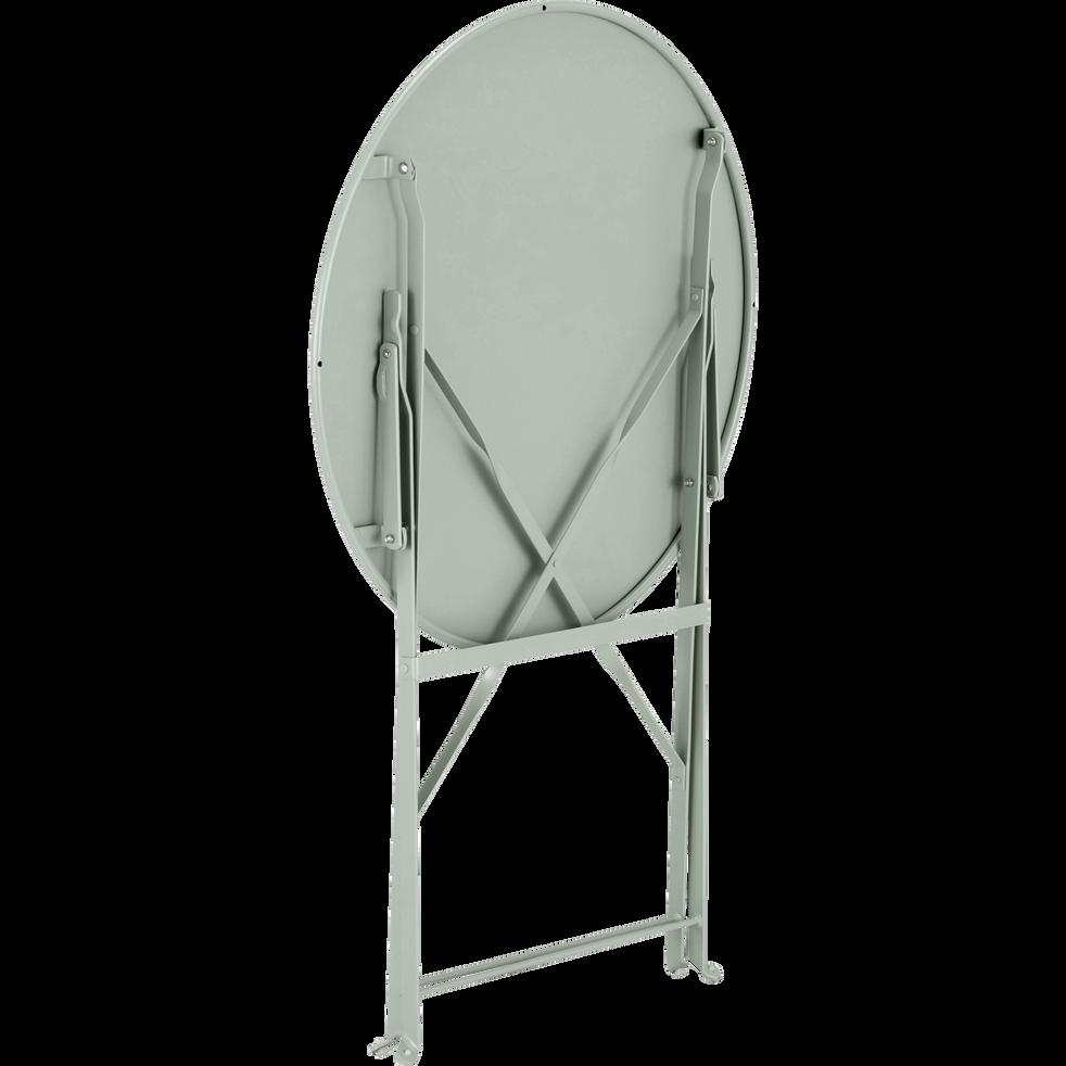 Table de jardin pliante vert olivier D60cm (2 places)-CERVIONE