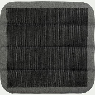 Galette de chaise indoor & outdoor en tissu déperlant - gris ardoise-KIKO