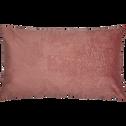 Coussin jacquard rose 30x50cm-GRETA