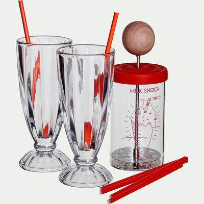 Shaker à milk-shake avec deux verres-MILKSHOCK
