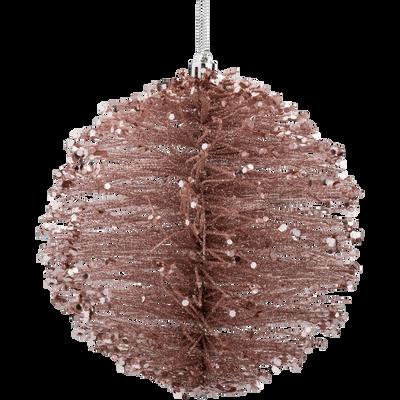 Boule en plastique rose D15cm-KINH
