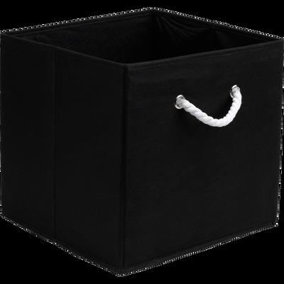 Panier carré pliable noir 31x31x31 cm-CORDE