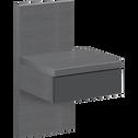Table de chevet grise 1 tiroir-BROOKLYN