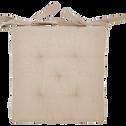 Galette de chaise beige alpilles 40x40cm-CALANQUES