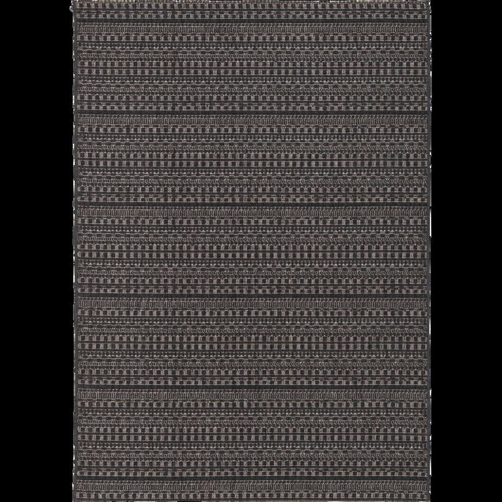 Tapis d'extérieur à motifs noir 120x170 cm-FUVEAU