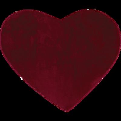 Tapis enfant en forme de coeur 100x100cm bordeaux-SWEET