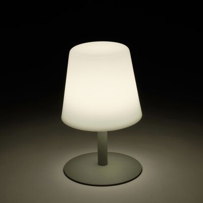 Lampe de table nomade avec pied en métal vert olivier H26cm-MUGEL