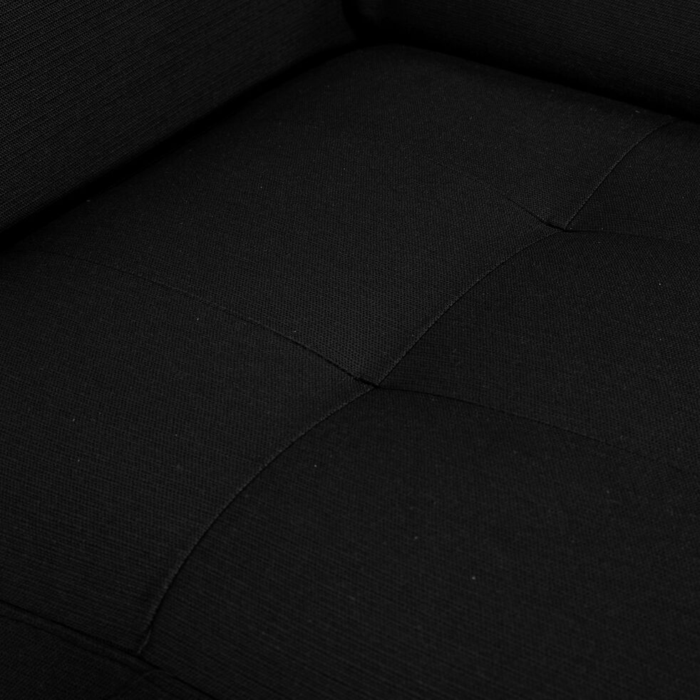 Canapé 2 places convertible en tissu avec accoudoir 20cm - gris anthracite-MAURO