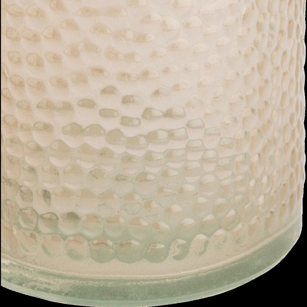 Bouteille en verre beige effet martelé 80cl-AZZA