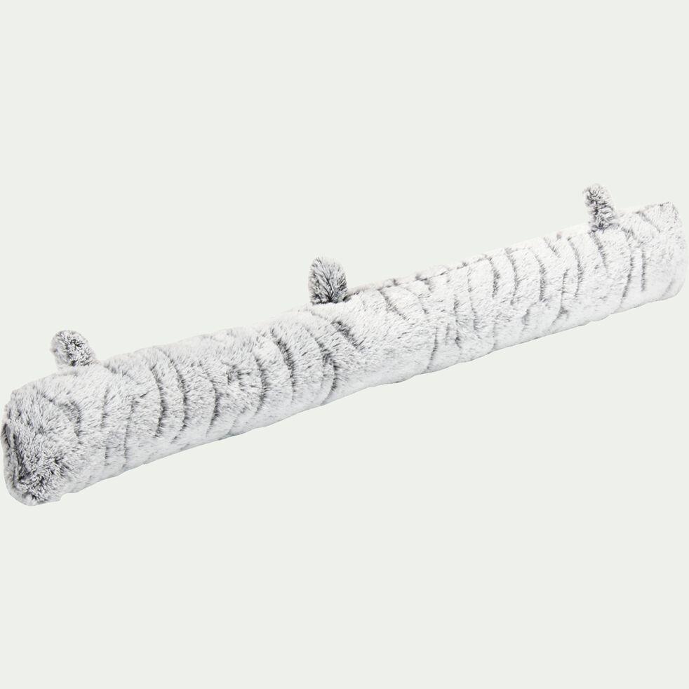 Coussin de porte imitation fourrure - gris L90cm-Lalou