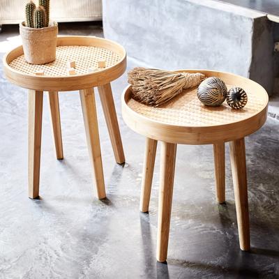 Bout de canapé en bambou et tressage-OZ