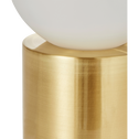 Lampe à poser en laiton brossé H23xD12cm-BILL