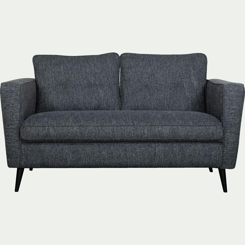 Canapé fixe 2 places en tissu - bleu myrte-BARTHOLE