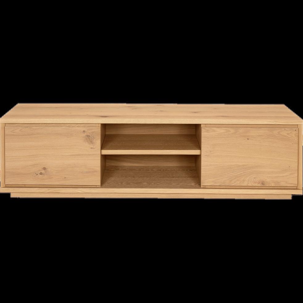 Meuble tv plaqu ch ne 2 portes stockholm meubles tv alinea - Alinea meuble ...