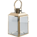 Lanterne en acier doré 25x13x14cm-ALCINA