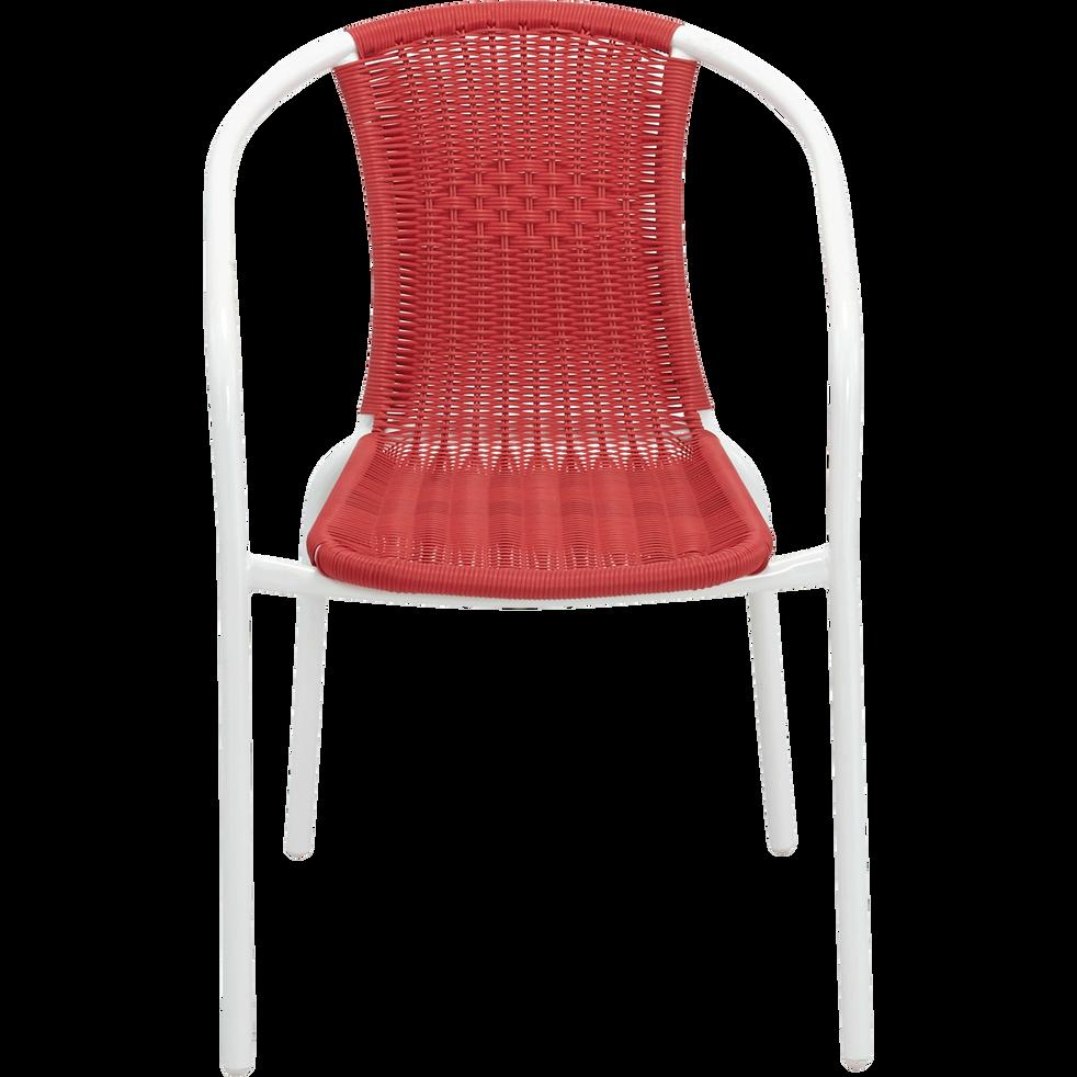 Fauteuil de jardin rouge finition rotin tress lysia la s lection ventes priv es alinea - Alinea fauteuil jardin ...