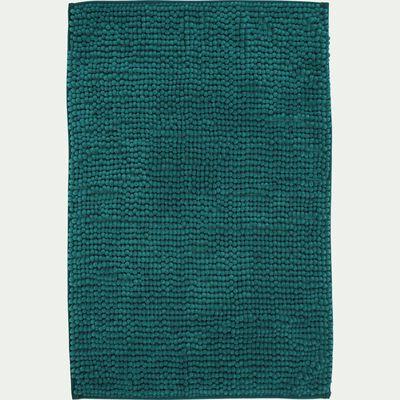 Tapis de bain rectangulaire antidérapant - l50xL80cm bleu niolon-Picus
