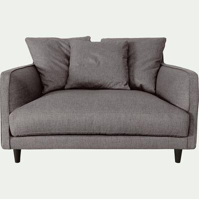 Canapé 1,5 places fixe en tissu - gris restanque-LENITA