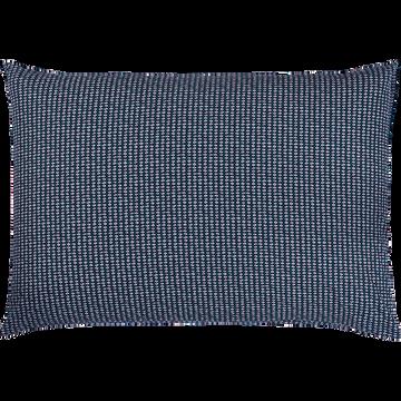 Lot de 2 taies oreiller 50x70cm bleu figuerolles-SEME