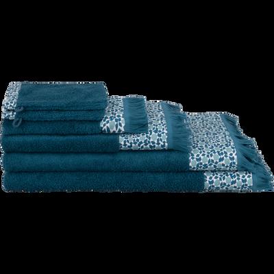 linge de toilette bleu figuerolles-ZELLIA