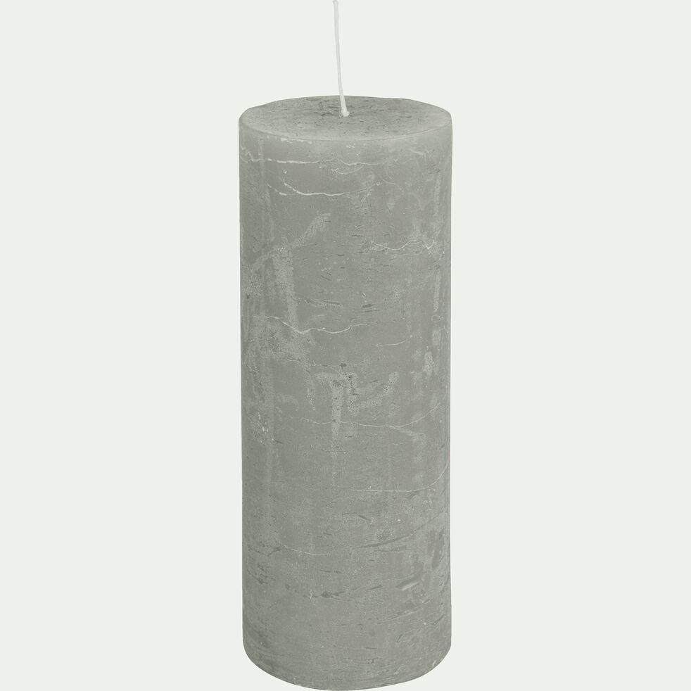 Bougie cylindrique - D7xH19cm vert-BEJAIA