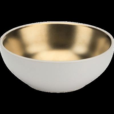 Coupelle en porcelaine blanche et dorée D10,5cm-GABRIEL