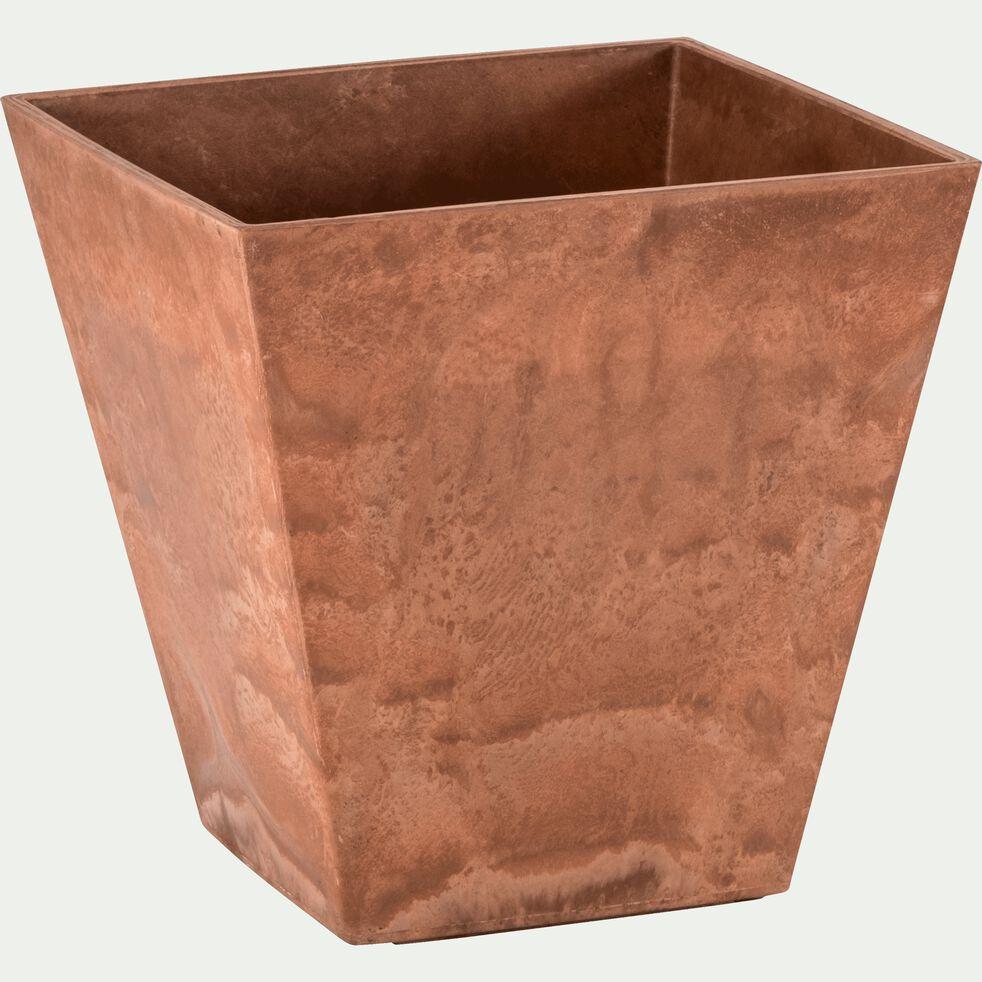 Pot à réserve d'eau - marron H34cm-ELLA