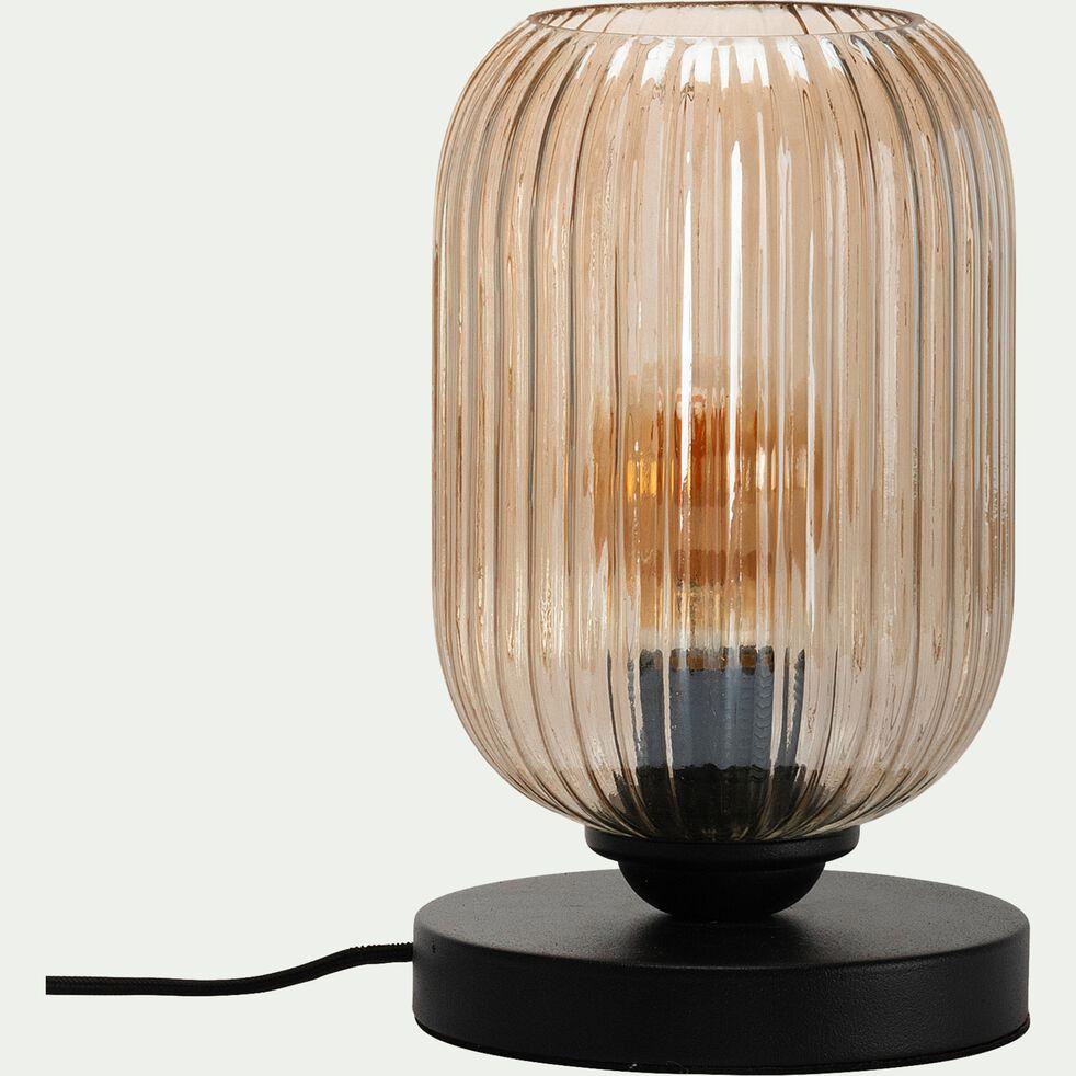 Lampe en verre et métal D15xH25cm-ZAIA
