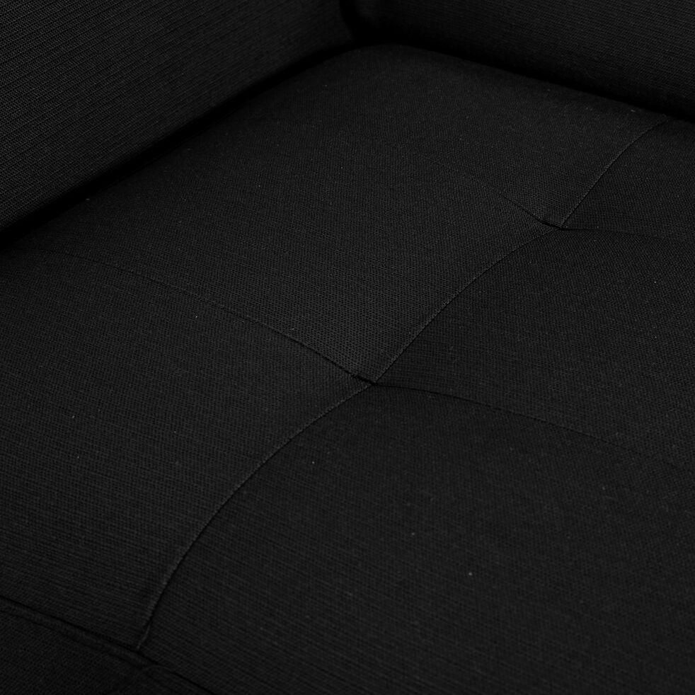 Canapé 2 places convertible en tissu avec accoudoir 15cm - gris anthracite-MAURO