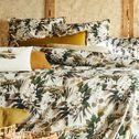 Housse de couette et 2 taies d'oreiller en percale de coton - marron 240x220cm-RECIT D ESSENCES