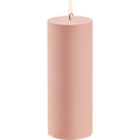 Bougie mate rose D7xH18 cm-RIGUEL