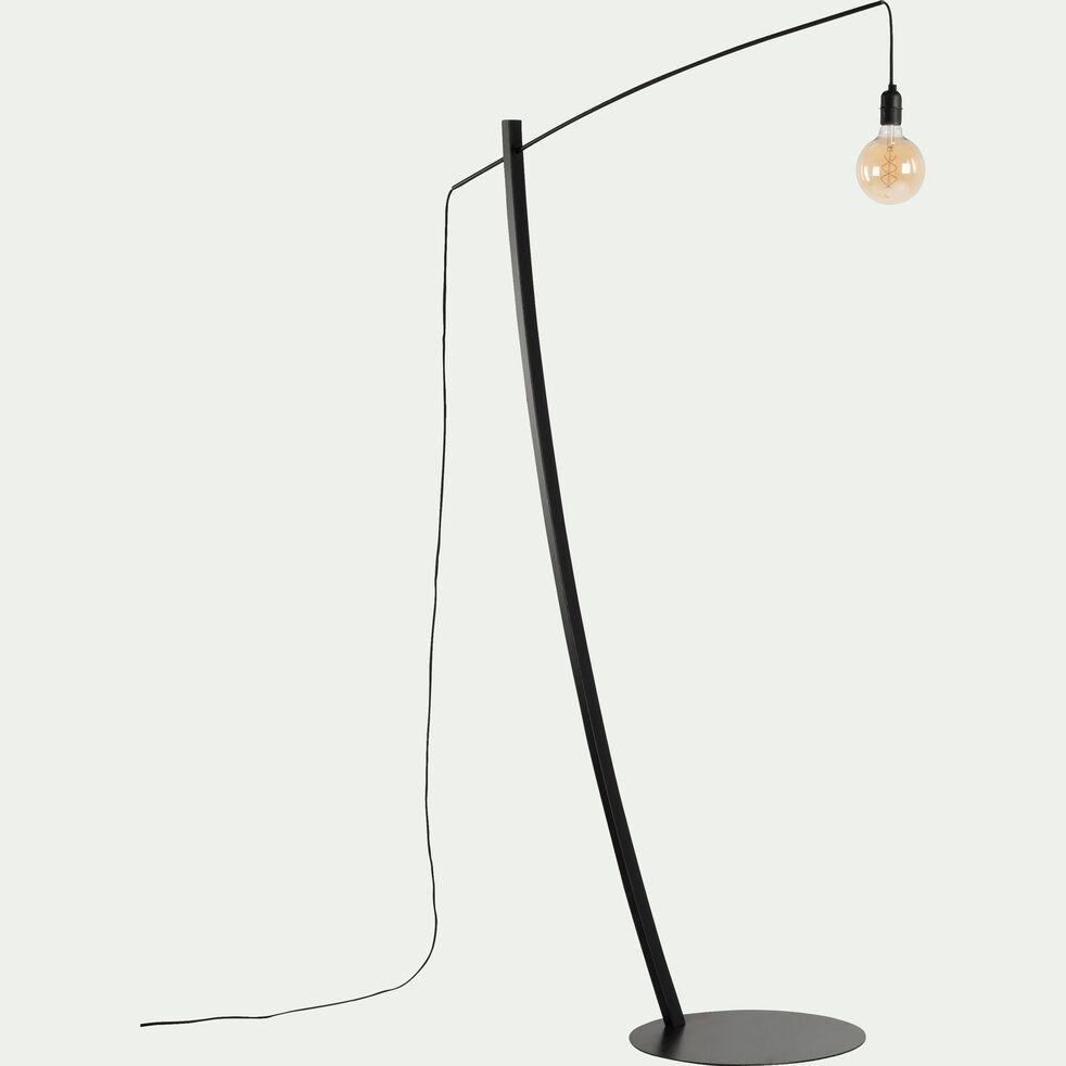 Pied de lampadaire extensible en métal noir H190cm-CAVALAIRE