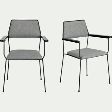 Chaise en tissu avec accoudoirs - gris borie-INSTINCT