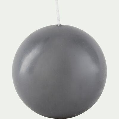 Bougie ronde gris restanque D10cm-HALBA