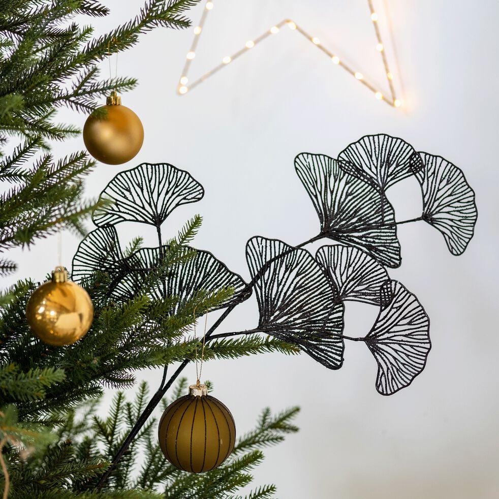 Boule de Noël en verre vert D8cm-TANZA