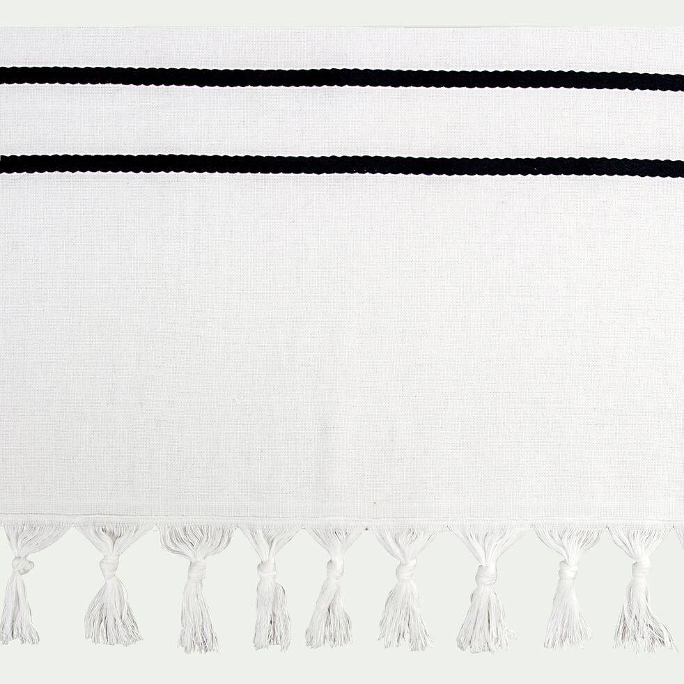 Fouta de plage marinière 180x90cm - blanc-Pestamal