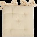 Galette de chaise beige roucas 40x40cm-CALANQUES