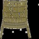 Fauteuil de jardin en résine tressée vert-LAIGUELIA