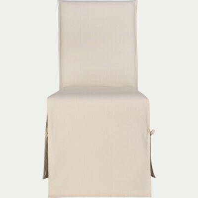 Housse de chaise en coton - beige roucas-LILY