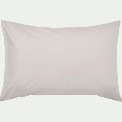 Taie d'oreiller en coton lavé beige roucas 45x65 cm-CALANQUES