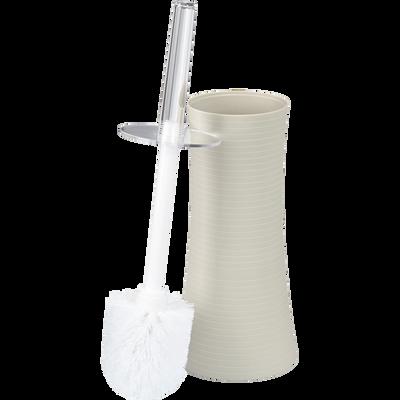 Balai et porte-balai WC beige-SLUP