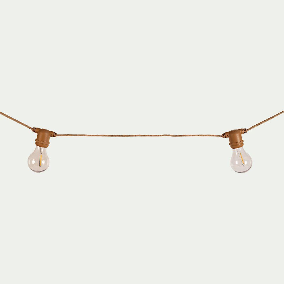 Guirlande électrique avec câble en jute 10 ampoules - 8m naturel-ALLEGRA