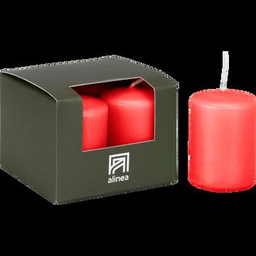 4 bougies votives rouge azérole-HALBA