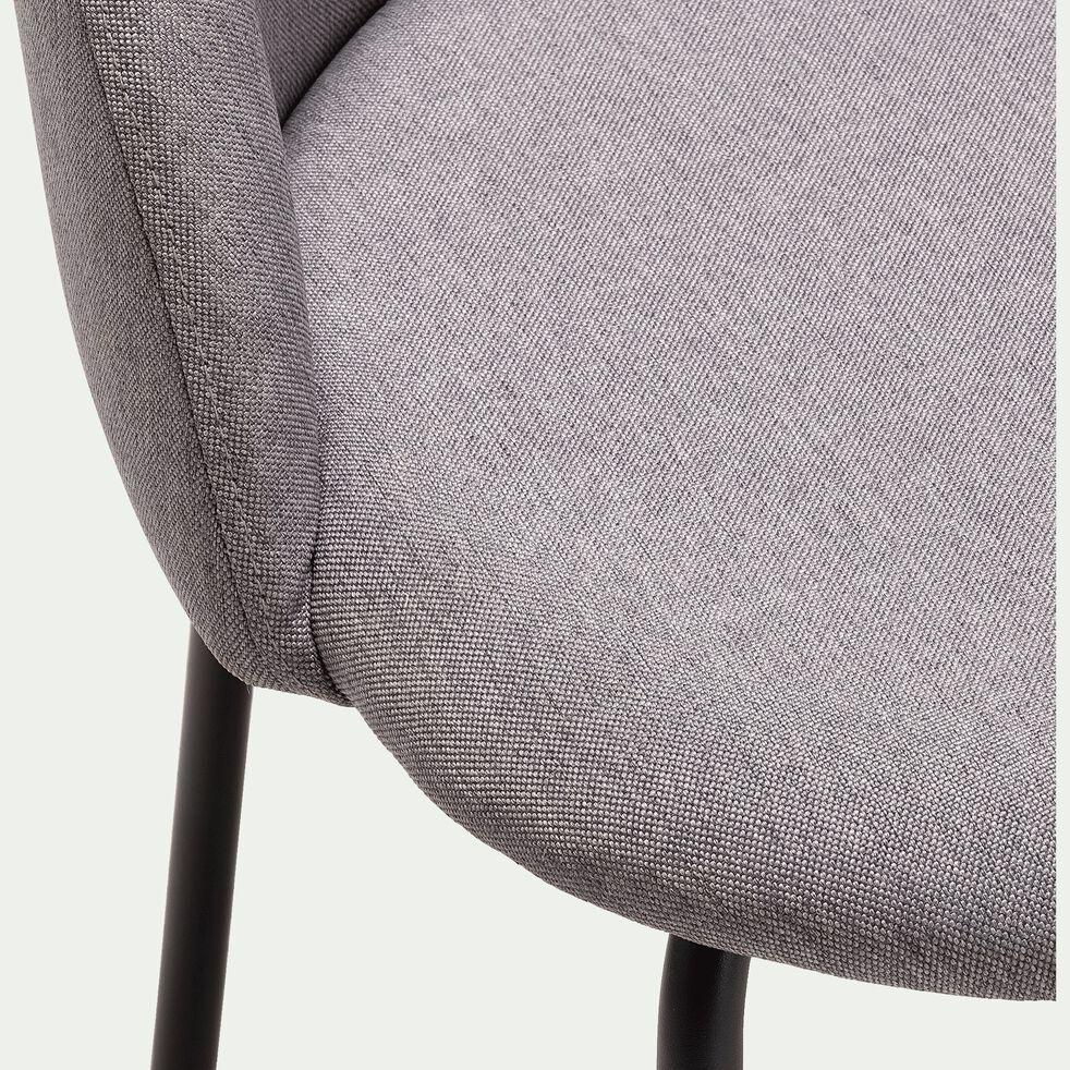 Chaise en tissu - gris borie-FAUVETTE
