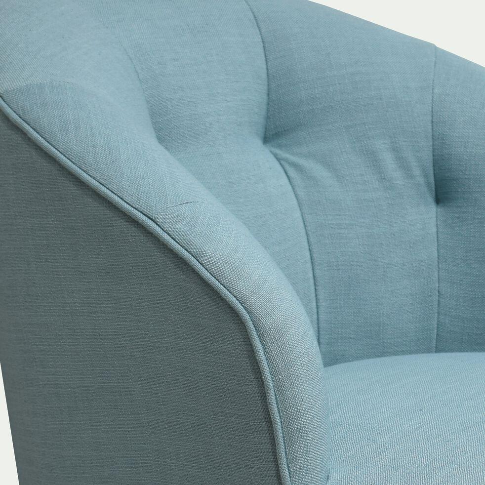Fauteuil en tissu - bleu-MARCELLIN