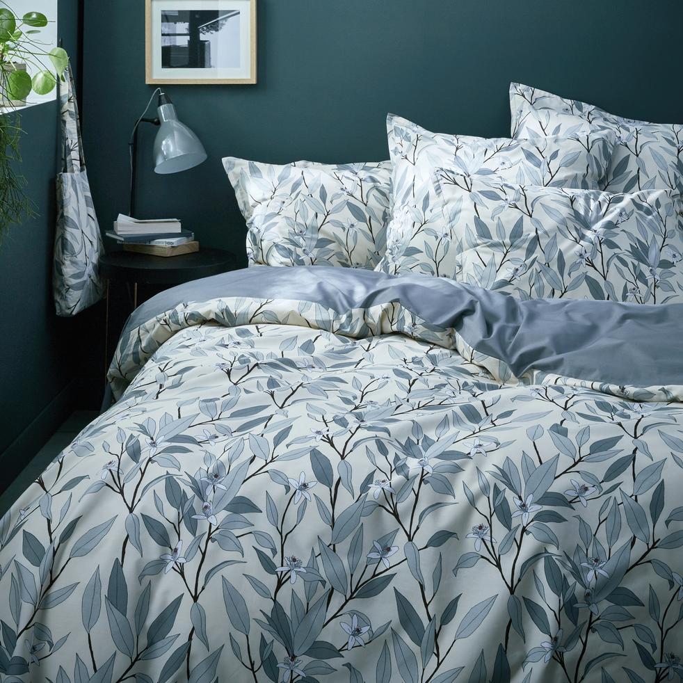 housse de couette en percale de coton imprim fleurs d 39 oranger 240x220 cm fanny 240x220 cm. Black Bedroom Furniture Sets. Home Design Ideas